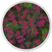 0901 Abstract Thought Round Beach Towel