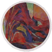 0910 Abstract Thought Round Beach Towel