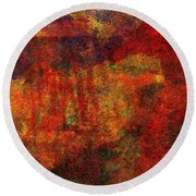 0911 Abstract Thought Round Beach Towel