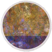 0913 Abstract Thought Round Beach Towel