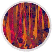 0917 Abstract Thought Round Beach Towel
