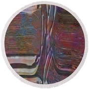 0922 Abstract Thought Round Beach Towel