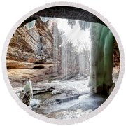 0938 Lasalle Falls - Starved Rock State Park Round Beach Towel