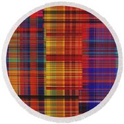 0942 Abstract Thought Round Beach Towel