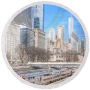 0945 Chicago Round Beach Towel