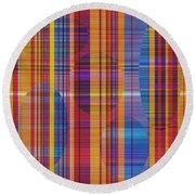 0946 Abstract Thought Round Beach Towel
