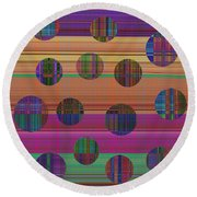 0948 Abstract Thought Round Beach Towel