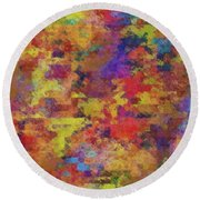 0955 Abstract Thought Round Beach Towel