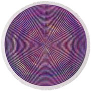 0965 Abstract Thought Round Beach Towel
