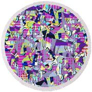 0978 Abstract Thought Round Beach Towel