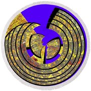 0985 Abstract Thought Round Beach Towel