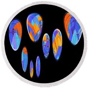 0986 Abstract Thought Round Beach Towel