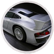 1997 Porsche 911 Gt1 Street Version Round Beach Towel