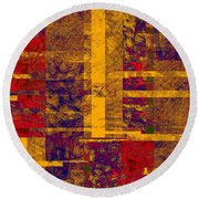 0161 Abstract Thought Round Beach Towel
