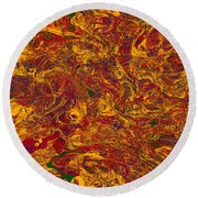 0202 Abstract Thought Round Beach Towel