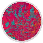0217 Abstract Thought Round Beach Towel
