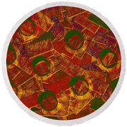 0255 Abstract Thought Round Beach Towel