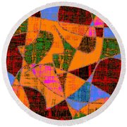 0267 Abstract Thought Round Beach Towel