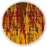 0280 Abstract Thought Round Beach Towel