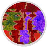 0322 Abstract Thought Round Beach Towel