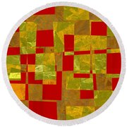 0393 Abstract Thought Round Beach Towel