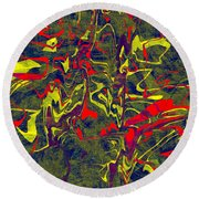 0399 Abstract Thought Round Beach Towel