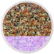 0415 Abstract Thought Round Beach Towel