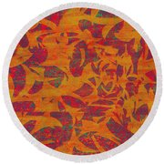 0450 Abstract Thought Round Beach Towel