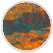 0510 Abstract Thought Round Beach Towel