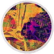 0548 Abstract Thought Round Beach Towel