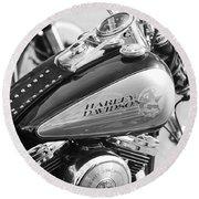 110th Anniversary Harley Davidson Round Beach Towel