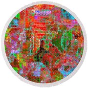 1306 Abstract Thought Round Beach Towel