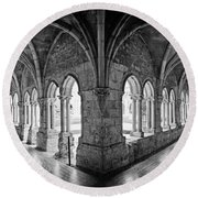 13th Century Gothic Cloister Round Beach Towel