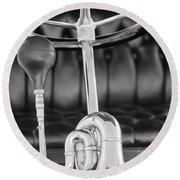 1903 Pope Hartford B Steering Wheel - Horn Round Beach Towel