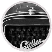 1907 Cadillac Model M Touring Grille Emblem Round Beach Towel
