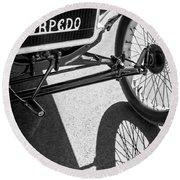 1911 Ford Model T Torpedo Grille Emblem Round Beach Towel by Jill Reger