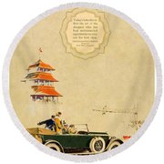 1925 - Lincoln Advertisement - Color Round Beach Towel