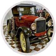 1926 Ford Model T Roadster Round Beach Towel
