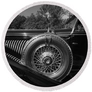 1929 Duesenberg Model J Covertible Coupe By Murphy Round Beach Towel