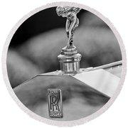 1930 Rolls-royce Phantom I Transformal Phaeton Hood Ornament Round Beach Towel