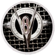 1931 Cadillac Emblem Round Beach Towel
