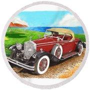 Rolls Royce Henley Roadster Round Beach Towel