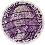 1932 George Washington Stamp Round Beach Towel