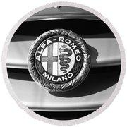 1934 Alfa Romeo 8c Zagato Emblem Round Beach Towel
