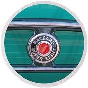 1934 Packard Super 8 Emblem Round Beach Towel