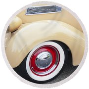 1936 Ford Cabriolet  Round Beach Towel