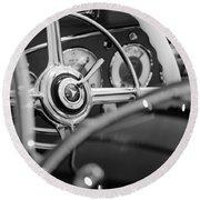 1936 Mercedes-benz 540 Special Roadster Steering Wheel Round Beach Towel