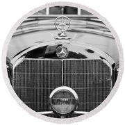 1936 Mercedes-benz 540k Mayfair Special Roadster Round Beach Towel