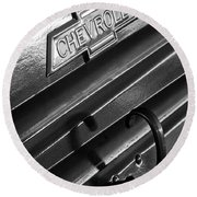 1937 Chevrolet Custom Pickup Emblem Round Beach Towel by Jill Reger