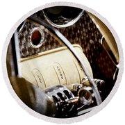 1937 Cord 812 Phaeton Controls Round Beach Towel